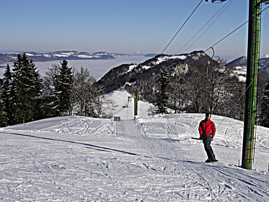Skifahren Jura