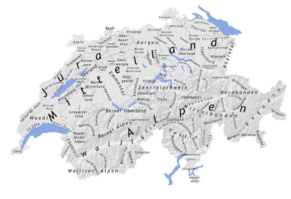 Solothurn  Schweizkarte - klick grösser- die Regionen und Bezirke SO Überblick