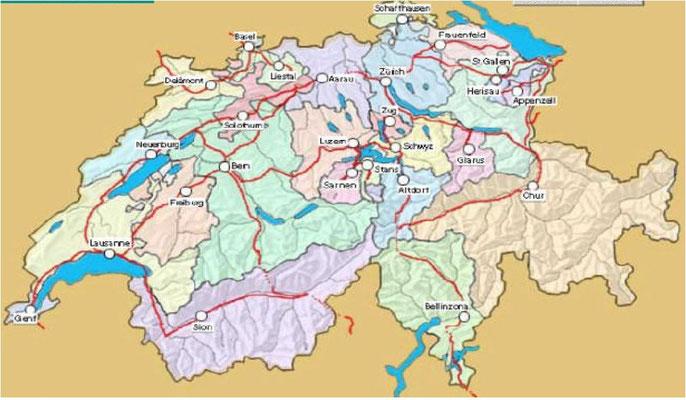 Städtekarte Schweiz cc trussardi.ch klick +++