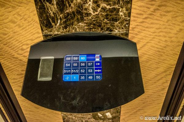 Сложная панель управления лифтами