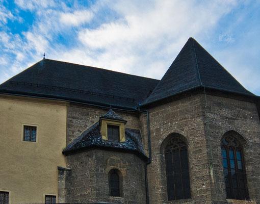 Частный дом у Хоэнзальцбурга. Да, есть там такие, прямо с самой стены крепостной.