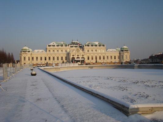Покинутый Бельведер зимой