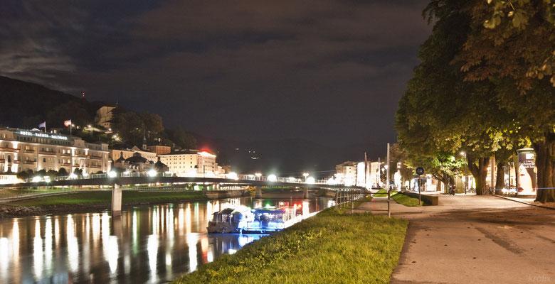 Ночь над рекой. Выдержка ~2 секунды, штатив