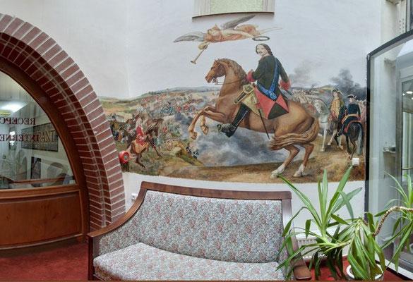 Петр I на коне. Картина неизвестного художника.