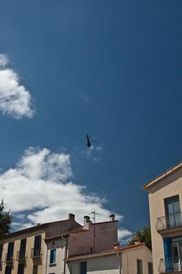 Заблудившийся вертолет над городом