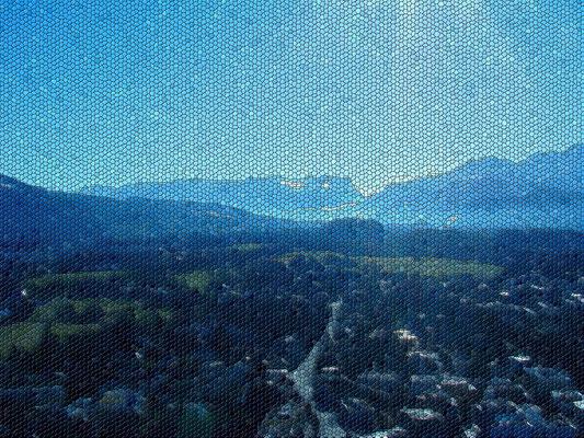 Вид на долину из замка Хохензальцбург