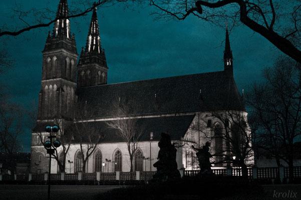 Двуглавый собор ночью