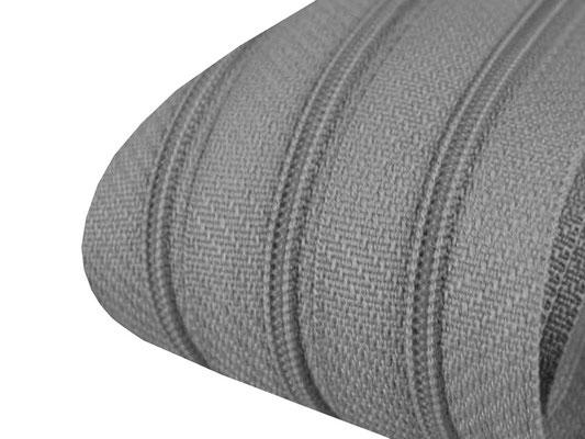 Reißverschluss - 3mm - steel grey