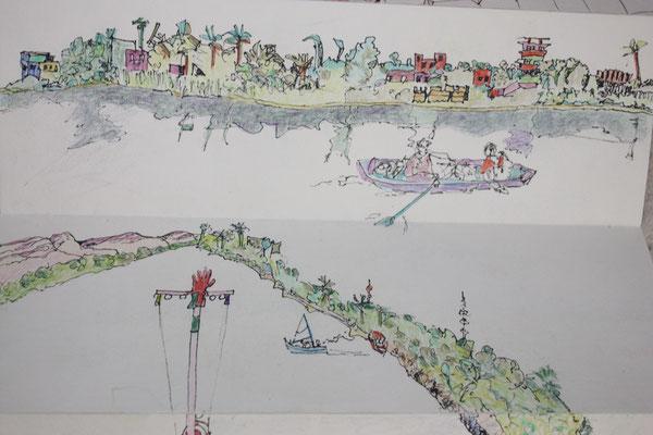Die Ufer des Nil ff