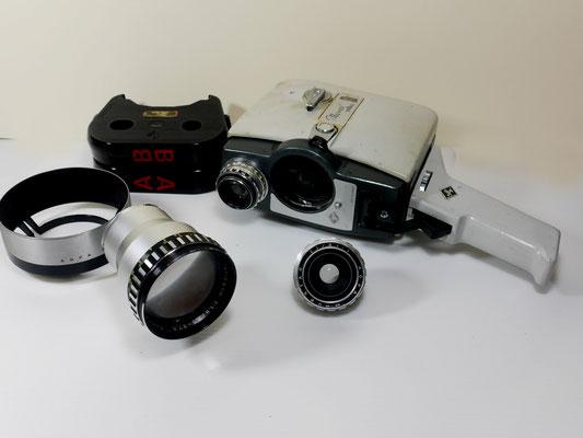 01C - AGFA MOVEX REFLEX 8 mm - Ottiche intercambiabili - Caricatori automatici