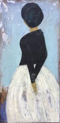 DIE VERTRÄUMTE- Acryl auf Leinwand - 40 x 80 cm