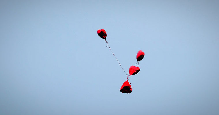 Herzen im Himmel