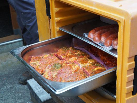 Das Essen wurde gesponsert von Buure Metzg Gstaad