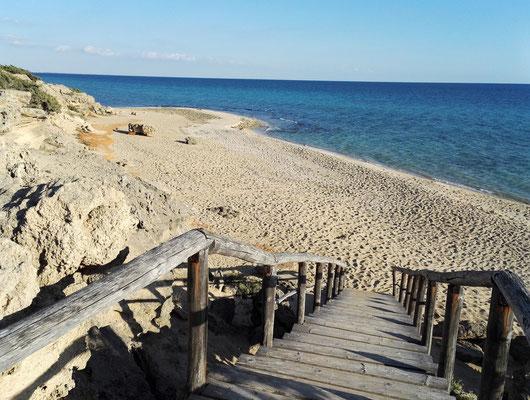 Treppe für den bequemen Strandzugang
