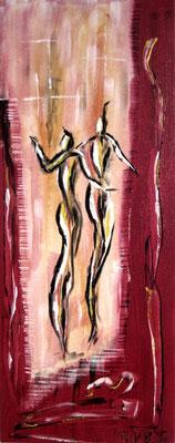 Die Tänzer (Format 50x20 ) auf Leinen