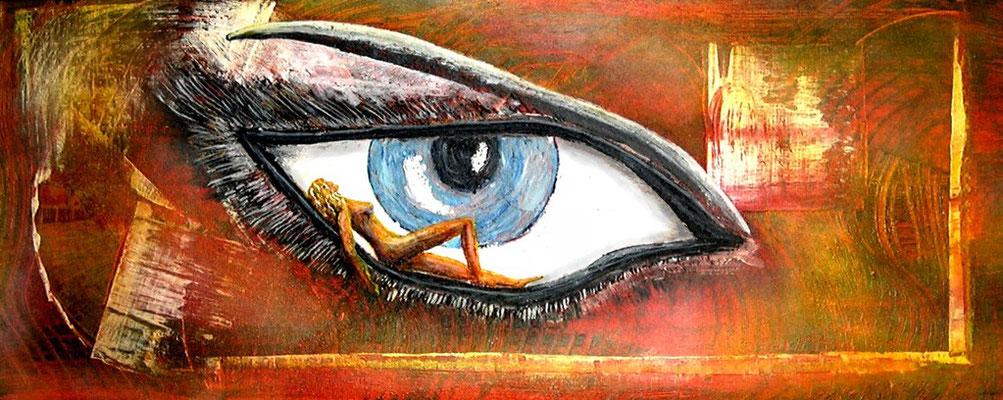 Die Macht des Auges (Format 50x20 ) auf Leinen