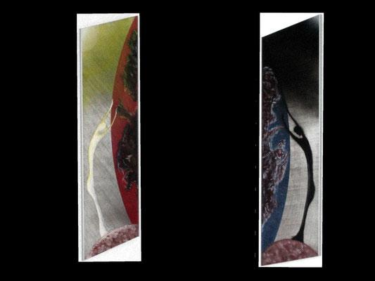 Teilen (Format 2x60x20 ) auf Metallfolie