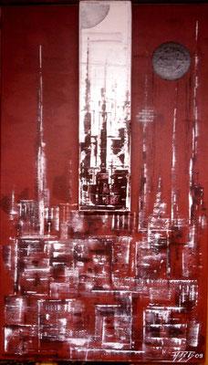 Die verborgene Kathedrale (Format 70x40 ) auf Leinen