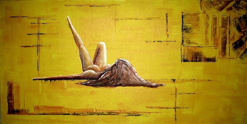 Verlangen (Format 60x30 ) auf Leinen