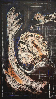 Symbiose (Format 40x70 ) auf Leinen (Alt oder jung.  Was will ich sehen?)