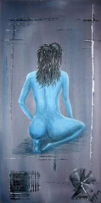Blue (Format 60x30 ) auf Leinen