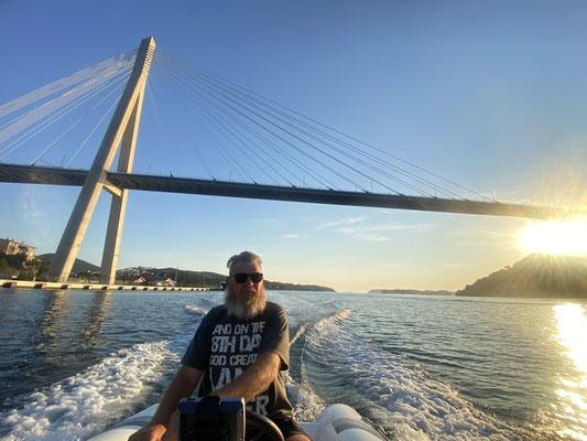 under Dubrovnik's Tudman Bridge