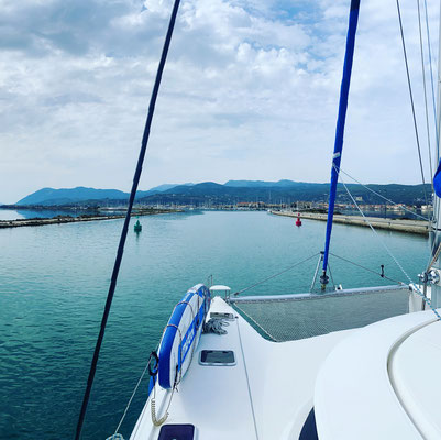driving down the canal of Lefkas