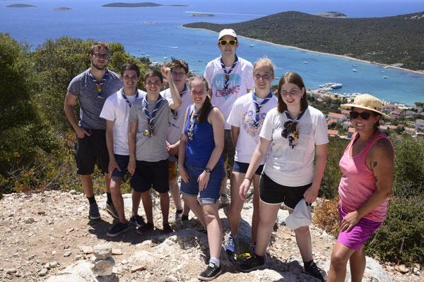 climbing mountains on Otok Ist