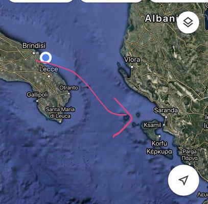 en route Brindisi -> Corfu