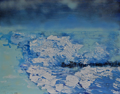 Eisige See, Acryl auf Leinwand, 90x70cm
