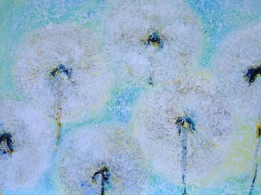Pusteblumen, Acryl auf Leinwand, 60x80 cm