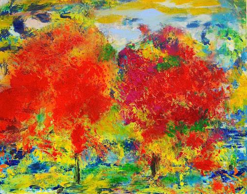 Herbst, Acryl & Öl auf Leinwand, 80x100 cm