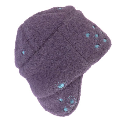 Mütze mit Ohrenklappen - cut outs/bestickt - Wolle - 186.-