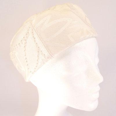 Toque - Baumwolle mit Glasperlen bestickt - 185.-