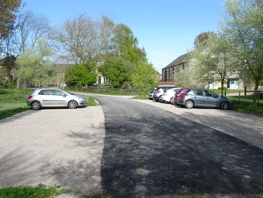 le parking les Mollières Ferme Relais de la Baie de Somme gîtes de groupe baie de somme