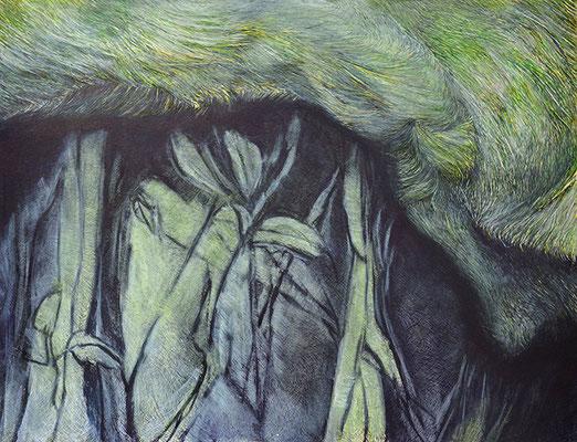 o.T., Tusche/Papier, 50 x 65 cm, 2019