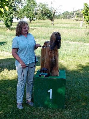 Mit ihrem zweiten Platz am Rennen und der guten Bewertung aus der Ausstellung konnte Venya S + L gewinnen
