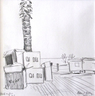 Ventimiglia, boxes on the promenade, 30 x 30 cm