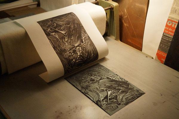 au sortir de l'imprimante