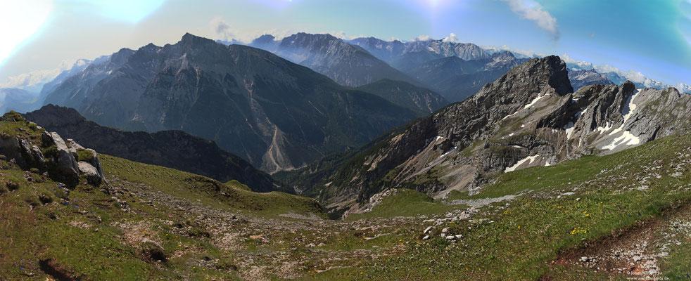 von der Karwendelgrube in Richtung Österreich