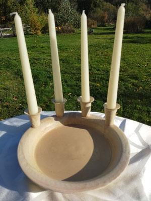 Kerzenhalter, blumenvase auf Schale 35,00€