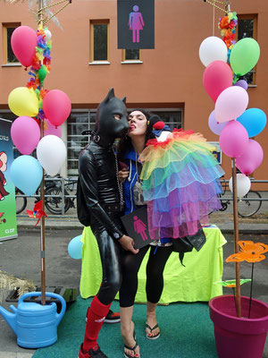 Fetish dog with CO-WC at Lesbian and Gay City Festival