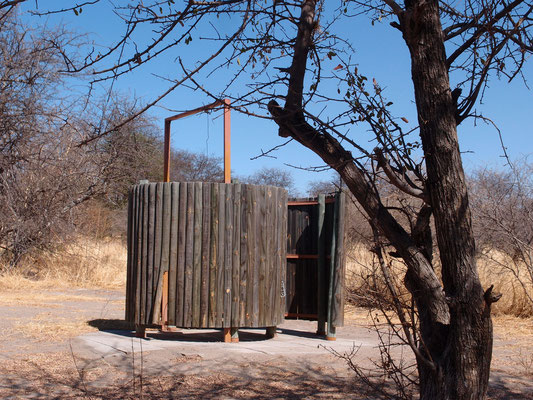 Toilettenhaus mit Dusche
