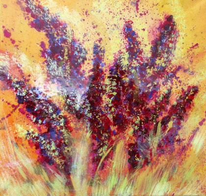 Blüten u. Gräser  40x40