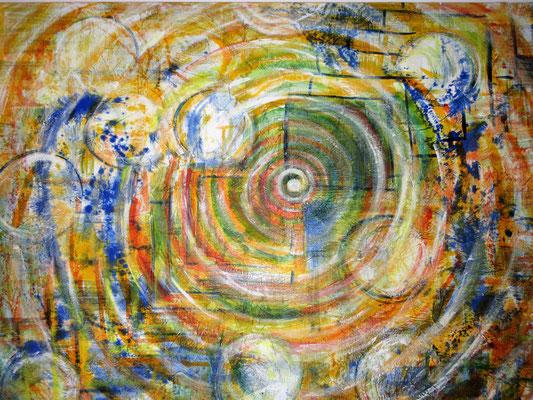 Archetypische Formen-Kreise und Quadrate 140x120