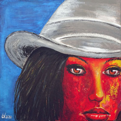 Red touch 1 (60cm x 60cm)