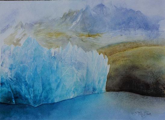 Gletscherbruch, 2019, 28x38.