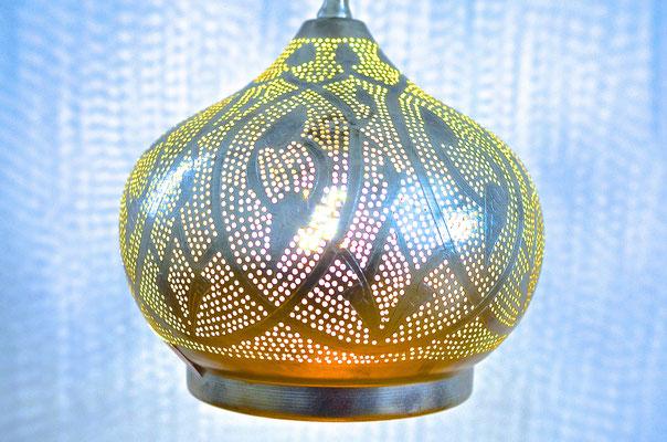 Ägyptische Silberlampe mit Muster - CASAORIENT Stuttgart