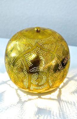 Ägyptische Silerlampe runde Form mit Muster - CASAORIENT Stuttgart