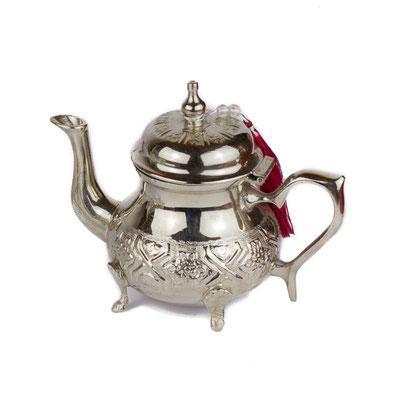 Marokkanische Teekanne in silber - CASAORIENT Stuttgart